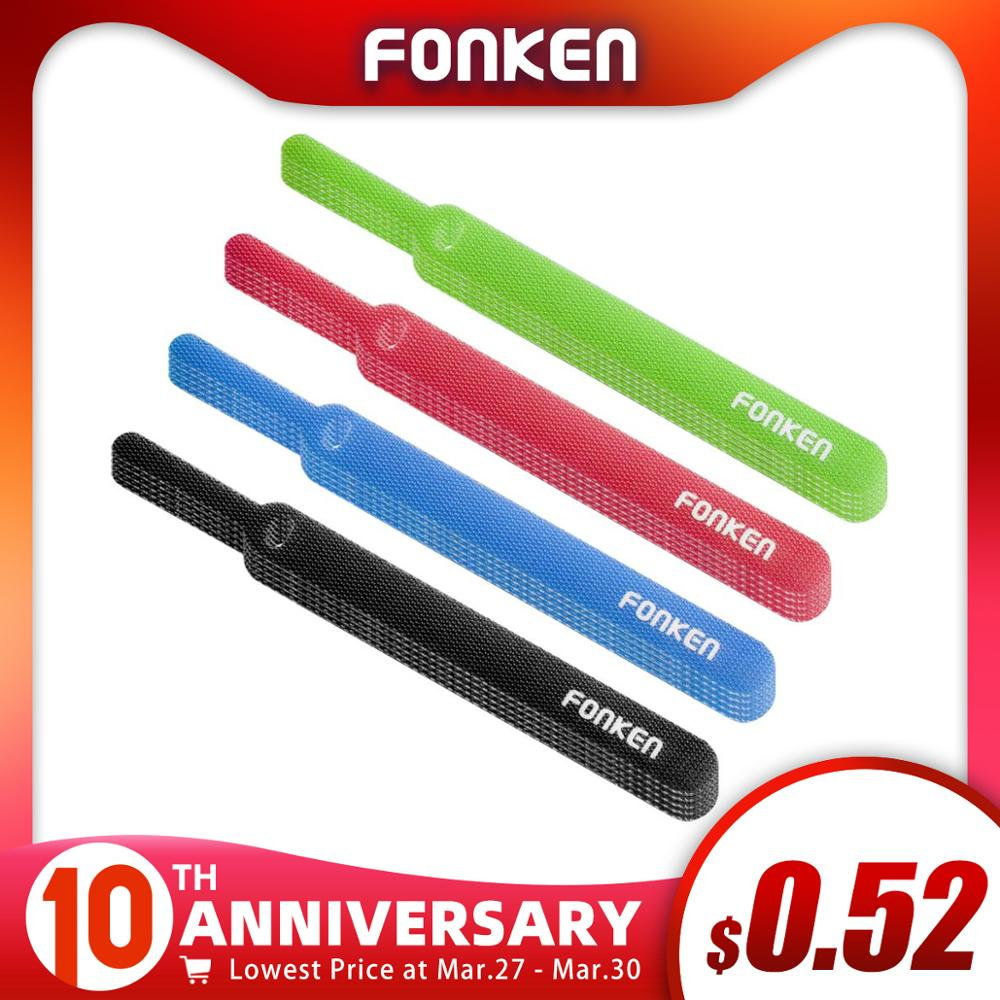 20Pcs FONKEN USB Cable Winder Arc Organizer Tape Home Harness Finishing Fixed Cables HDMI AUX PC Power Wire Ties