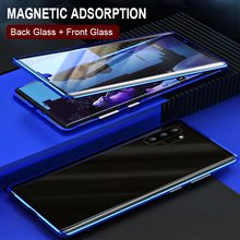 Full Body Protective Cases For Samsung Galaxy Note 10 Plus Case Cover Magnetic Case For Samsung Note 10 Case Cover Metal Bumber