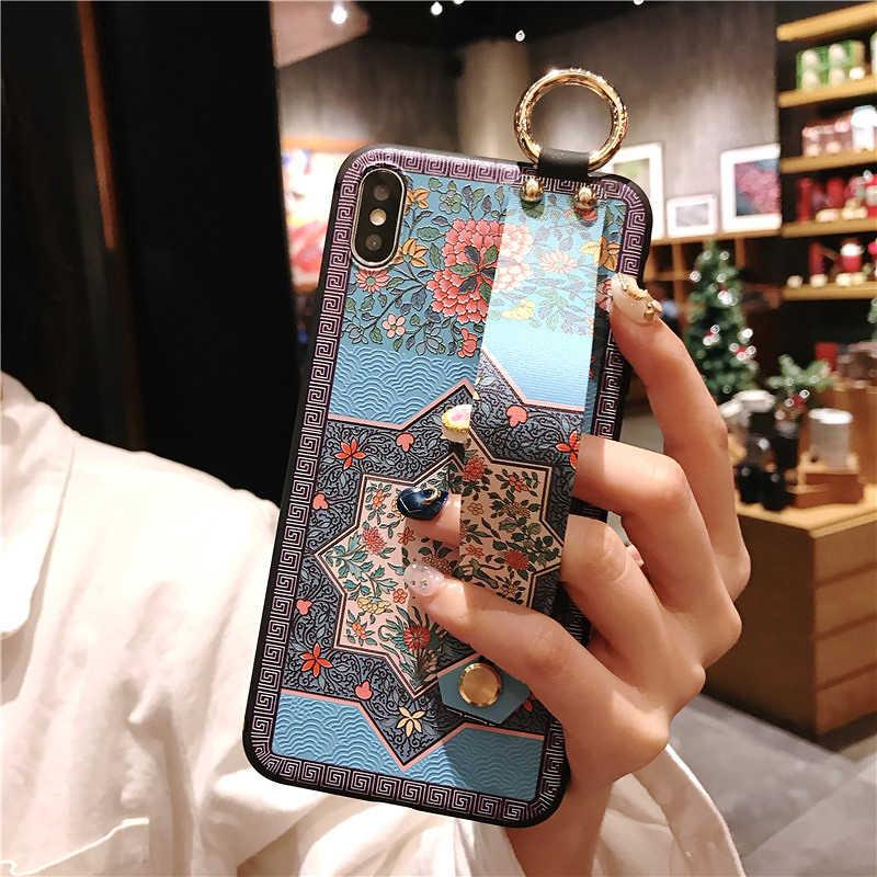 מאוד יפה 3D הבלטה מחזיק רך מקרה עבור iphone 7 8 בתוספת 6 6s בתוספת טלפון מקרה עבור iphone X xs max XR 11 פרו מקסימום כיסוי מקרי