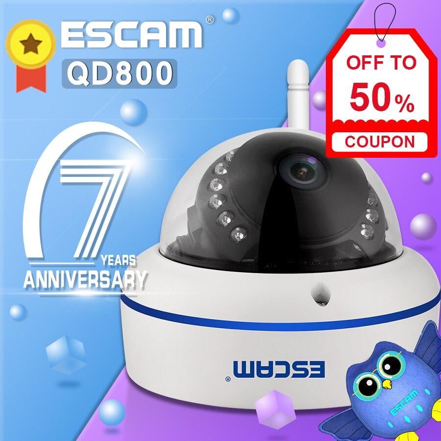 Velocidade QD800WIFI 2.0MP ESCAM ONVIF FHD 1080P P2P Nuvem Privada À Prova D' Água Câmera de Segurança IP Wi-fi