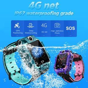 Image 2 - 696 enfants montre intelligente 4G LTE SIM GPS Position rotation double caméras appel vidéo IP68 étanche enfants garçon fille SmartWatch Y99 Z6