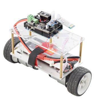 Arduino Self-balancing Robot Car Chassis kit 2 Wheel Mini RC Car with DC 12V Motor DIY STEM Toy Parts Program Kit