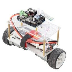 Arduino auto-équilibrage Robot voiture châssis kit 2 roues Mini voiture RC avec moteur cc 12V bricolage tige jouet pièces programme Kit
