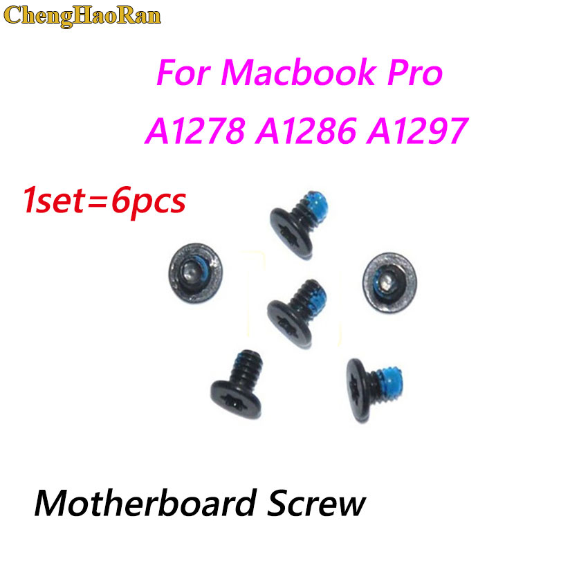ChengHaoRan 1set <font><b>Motherboard</b></font> Mainboard Logic Board Screw Screws Set Replacement For Macbook Pro A1278 A1286 <font><b>A1297</b></font> image