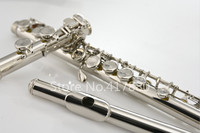 MARGEWATE Flute MGT 221P New Arrival C Tune Flute 16 Keys Hole Closed Nickel Plated E Mech Flute Musical Instrument
