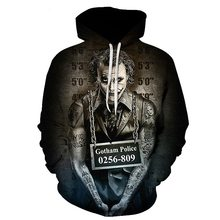 Suicide squad Joker 3D Hoodies Sweatshirts Men Brand Tracksuits Printed Pullover Hooded Coat Funny Hoody Plus Size(China)