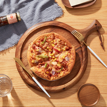 Kitchen Wooden Chopping Block Acacia Pizza Bread Fruit Hangable Wood Cutting Board Nonslip Household Kitchen Accessories Round nordic style beech wooden chopping block bread dessert tray non slip cutting board storage organizer kitchen tool for cakes