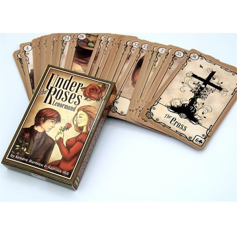Sotto le Rose Lenormand 39 Carte Oracle Deck Inglese Completa Misterioso Divinazione Festa di Famiglia Divertimento Tarocchi Gioco Da Tavolo
