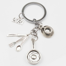 2021 Omelet Chef Keychain, Blender, Teacup, Creative Kitchenware Pendant Keychain Jewelry Gifts for Men and Women DIY Handmade