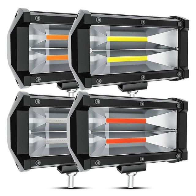 2021 New 5 Inch 72W Car LED Work Lights Offroad Worklight COB Modified Headlight Engineering Spotlight For ATV UTV Truck Tractor