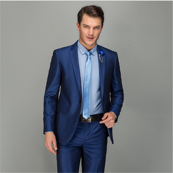 New Men's Suit Smolking Noivo Terno Slim Fit Easculino Evening Suits For Men One Button Business The Groom Best Man