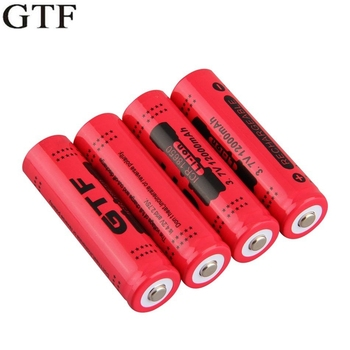 GTF 18650 Battery 3.7V 12000mAh Rechargeable Li-ion Battery for LED Torch Flashlight Rechargeable Lithium ion Batteries 4pcs lot 26650 batteries 10000mah 3 7 v battery lithium ion rechargeable batteries and led flashlight free delivery