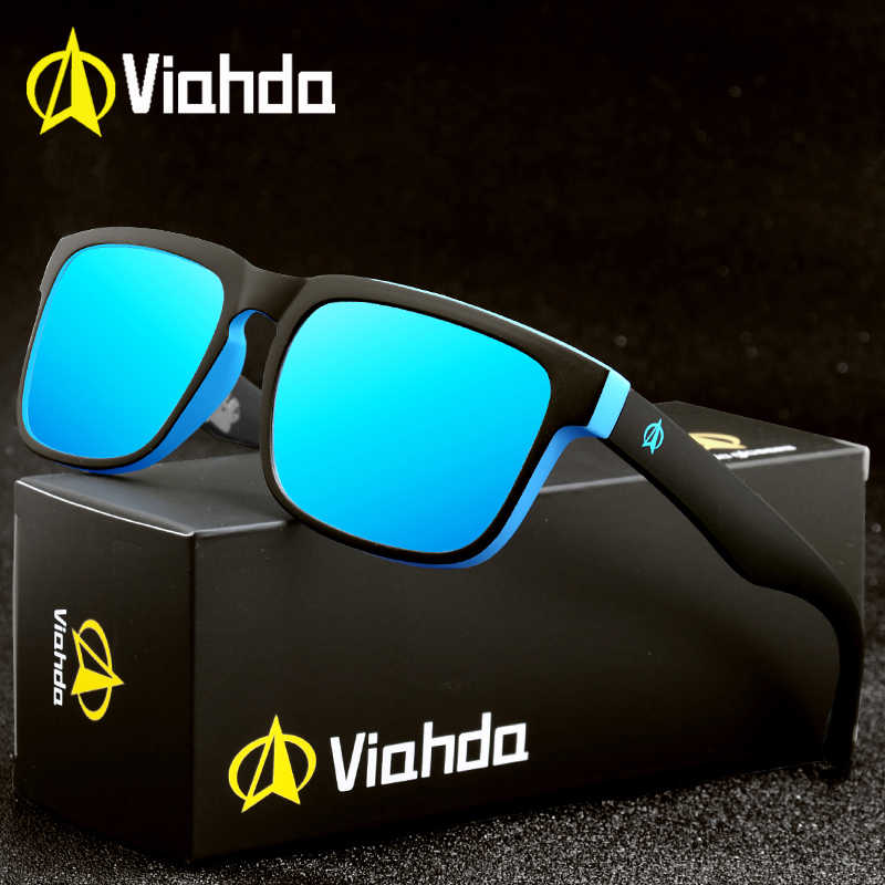 Viahda 2020 Brand New Polarized Sunglasses Cool Men Fashion Male Eyewear Sun Glasses Travel Gafas De Sol With box