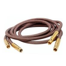 Hi Fi высококачественный кабель Accuphase 40 го юбилейного выпуска OCC из чистой меди с разъемом RCA, аудиокабель с золотым покрытием