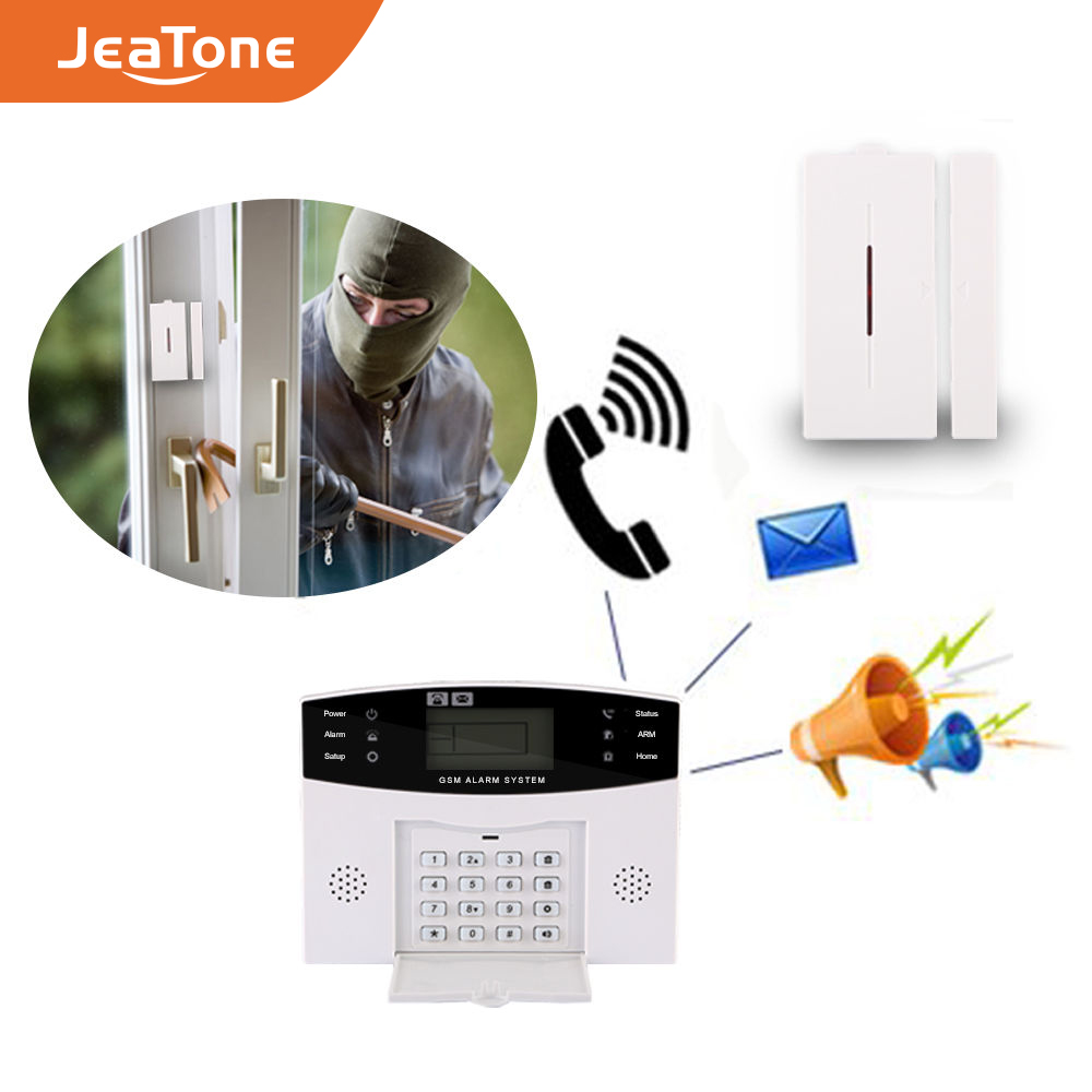 Wireless GSM Home Security Alarmanlage DIY Kit LCD Display SIM SMS Alarm System APP Control Android IOS Pet Immun key control