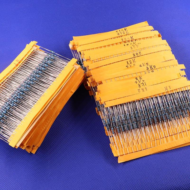 Resistors Assortment-Kits Values Fixed-Capacitors Metal-Film Lot 2600pcs 130 Pack-Kit-Set