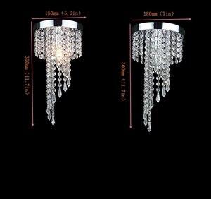 Image 5 - Modern LED Crystal Chandeliers E27 Bulb Led Lamps Living Room Ceiling Chandelier Indoor Lighting Led Lustre Lamp Ceiling Fixture