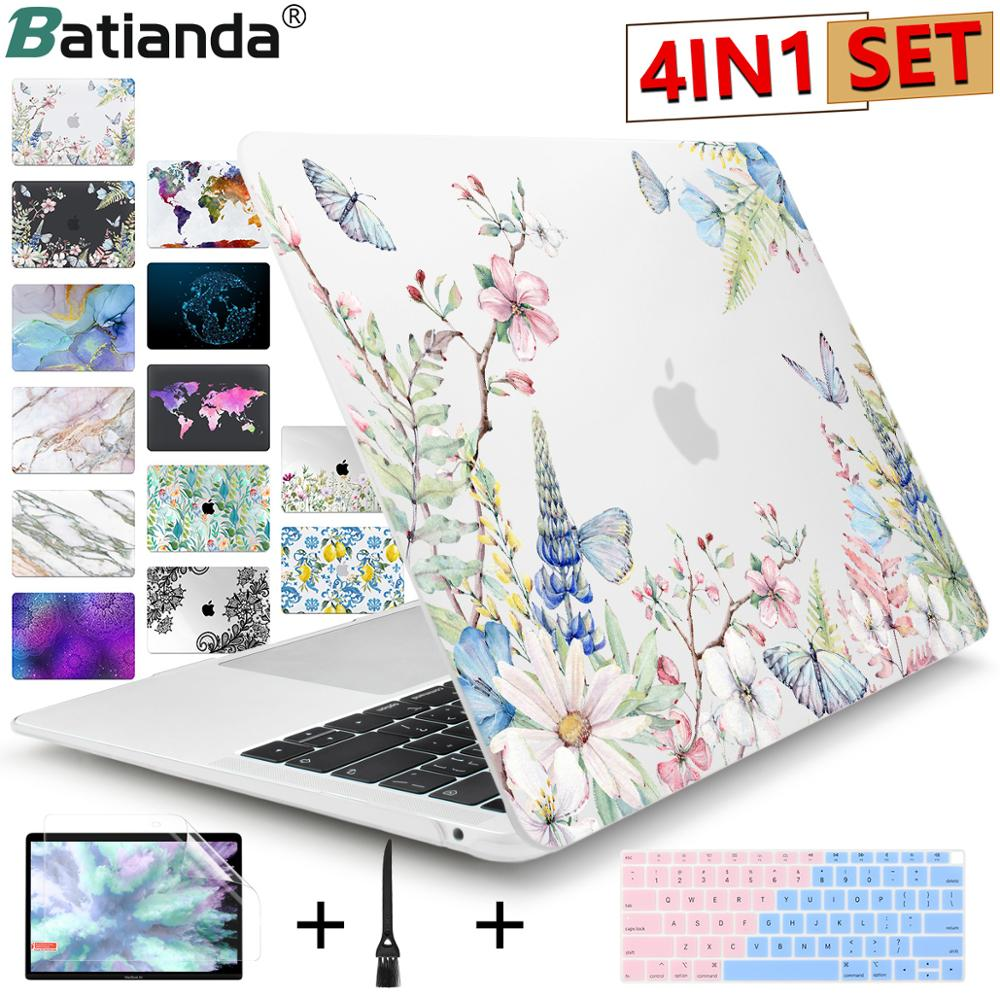 New Butterfly Pattern Laptop Case Keyboard Cover for New MacBook Air 13 2019 2020 Pro 13.3 15 inch Retina Touch Bar A2159 A2179