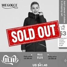 MIEGOFCE 2019 חדש חורף נשים אוסף של מעיל באורך הברך Parka נשים Windproof נשים מעיל עם Stand Up צווארון הוד