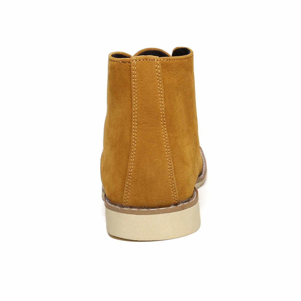SAGACE Stiefeletten Für Männer Business Herren Stiefel Wildleder Casual Schuhe Outdoor Leder Herren Winter Schuhe Männlichen Schwarz Blau Gelb