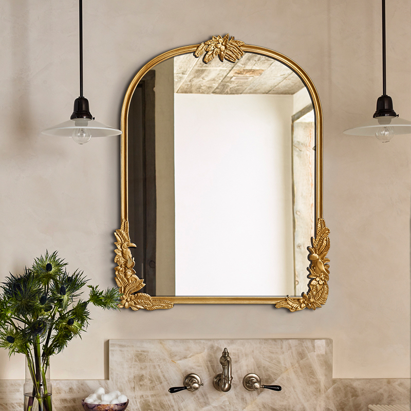 Vintage Carved Mirror Bathroom Mirror Home Decoration Custom Bathroom Wall  mounted Anti fog Mirror|Decorative Mirrors| - AliExpress
