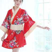 Bathrobe Soft Silk Robes for Women Traditional Style Robe Yukata Costumes Pajamas Belt Japanese Kimono Sexy Lingerie(China)