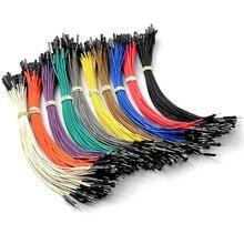 Kit electrónico DIY de Cable Dupont para Arduino, Cable Dupont macho hembra de línea de 20cm y 2,54mm, Conector de puente 1P, 50 Uds.