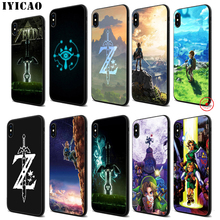 IYICAO the Legend Of Zelda Soft Black Silicone Case for iPhone 11 Pro Xr Xs Max X or 10 8 7 6 6S Plus 5 5S SE цена и фото