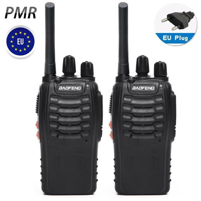 2 pièces Baofeng BF 88E PMR Version mise à jour du talkie walkie 888S avec chargeur USB UHF 446 MHz 0.5 W 16 CH Radio Portable Portable