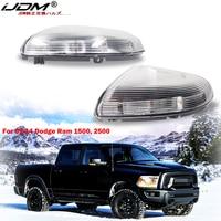 IJDM ámbar/blanco espejo lateral marcador lámparas para 2009-2014 Dodge Ram 1500 2500 frente intermitente de espejo lateral luz/luz DRL 12V