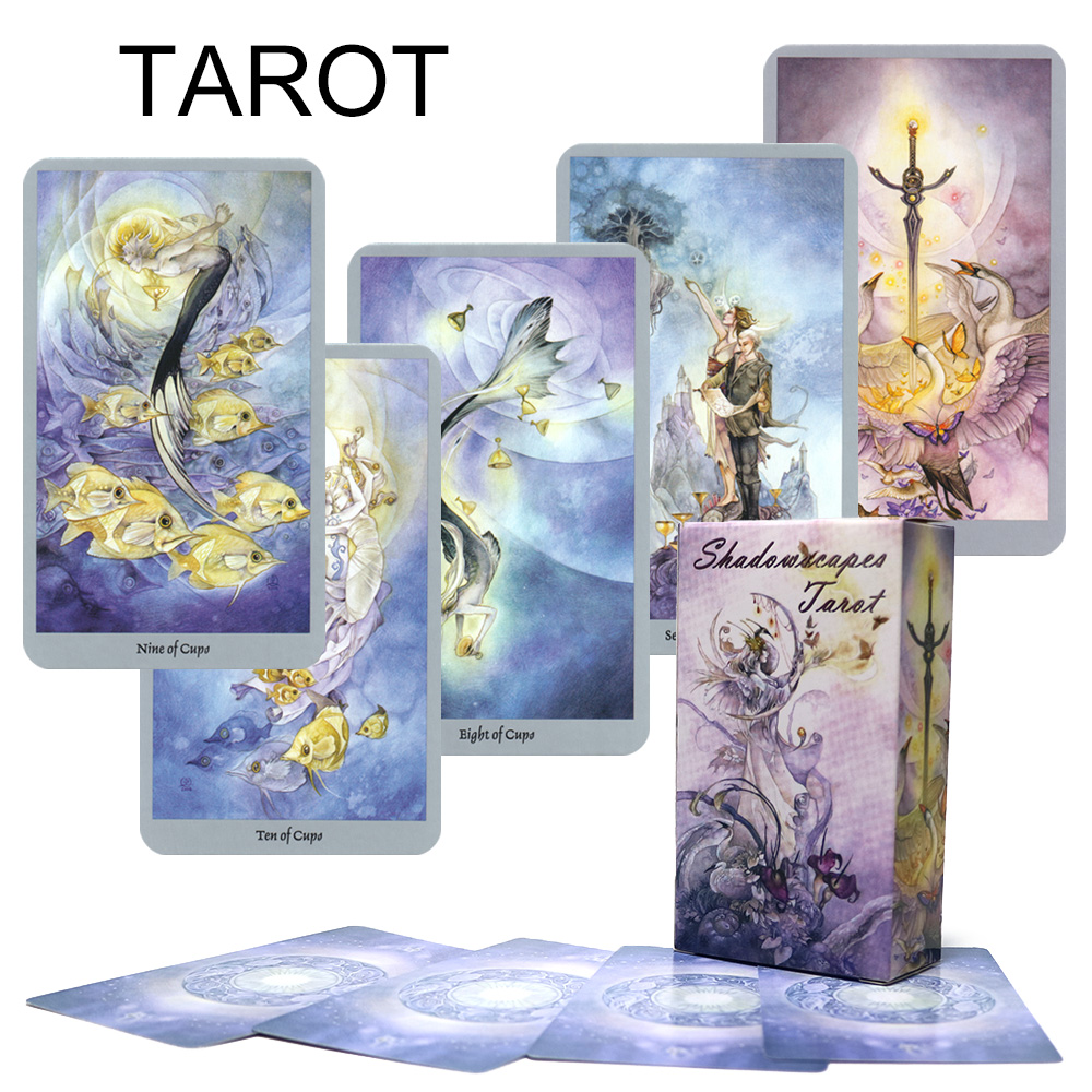 2019 Shadowscapes Tarot Cards Deck Mysterious Divination Card Game For Women Read Fate Board Game