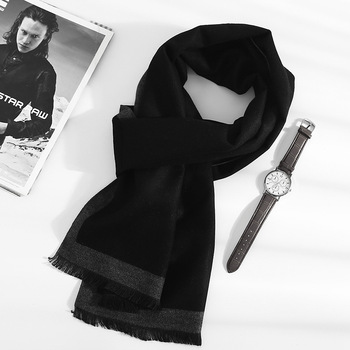 2020 new Fashion quality Scarves man Autumn winter Thick Warm cashmere Scarf Business long Wraps boy classic shawl free shipping