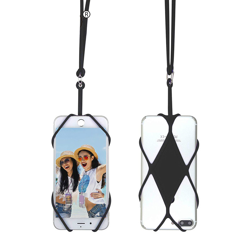 Universal Silicone Cell Phone Lanyard Holder Case Cover Smart Mobile Phone Lanyard For Phone Phone Neck Strap Necklace Sling