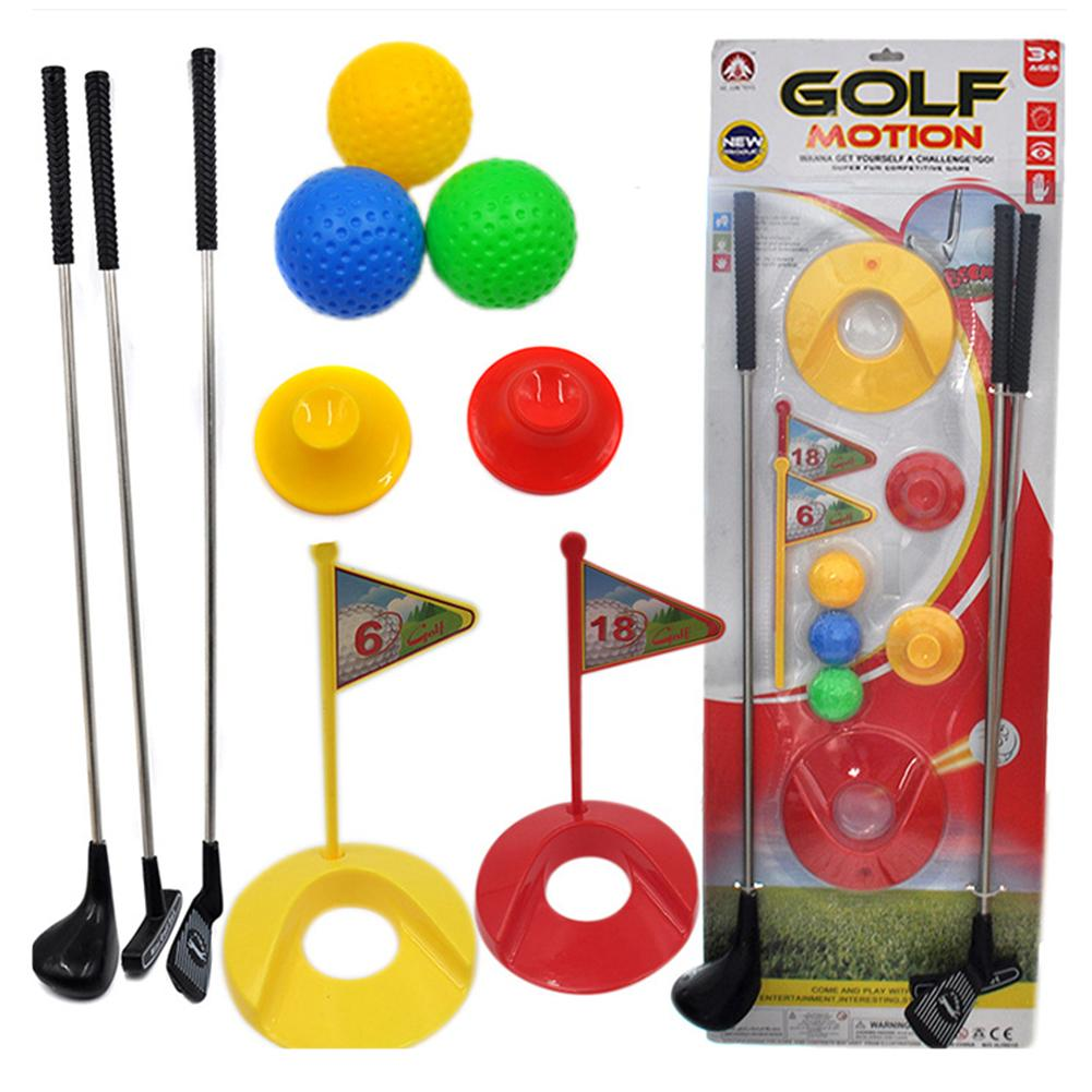 Golf Toy Set Sports For Kids Learning Active Toys Colourful Development Outdoor Play Sport Game For Children Play Ball Toy