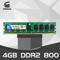 VEINEDA Memory 8GB DDR2 2 X 4GB ram 800 Mhz PC2 6400 240Pin Memory just For intel AMD Desktop dimm