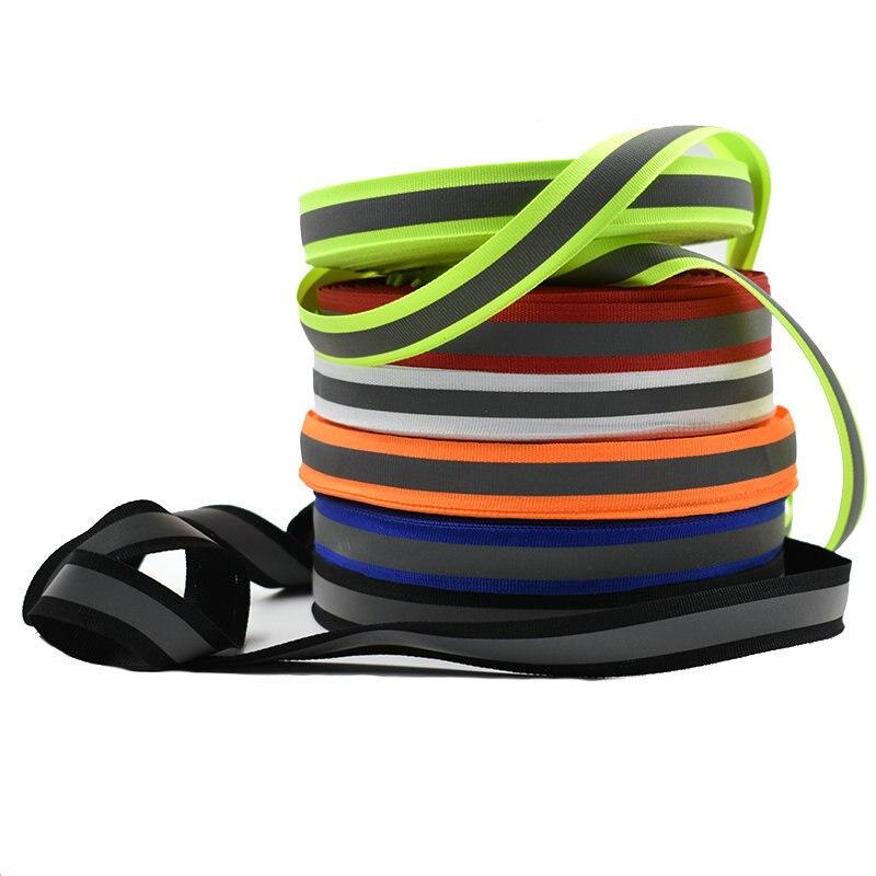 50m Highlight Reflective Tape Polyester Ribbon Reflective Material 1.5cm Width Traffic Safety Reflective Belt
