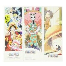36 unids/set Anime luffy marcador papelería marcadores libro titular de la tarjeta de mensaje de papelería regalo