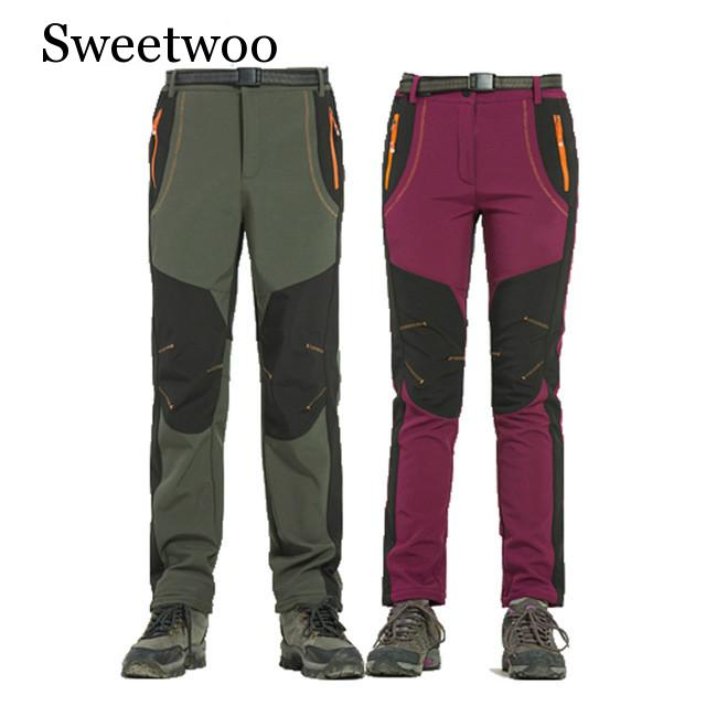 Mountainskin Winter Men Women Hiking Pants Outdoor Softshell Trousers Waterproof Windproof For Camping Ski Climbing