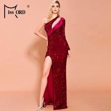 Missord 2021 женское сексуальное асимметричное платье на одно