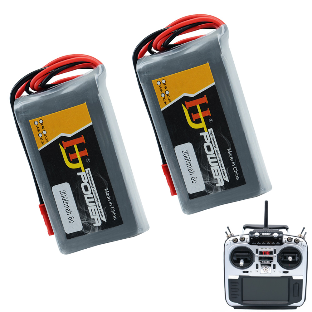 Rc Lipo Battery 2S 7.4V 2000MAH Lipo Battery For Jumper T16 Open Source Multi-protocol Radio Transmitter