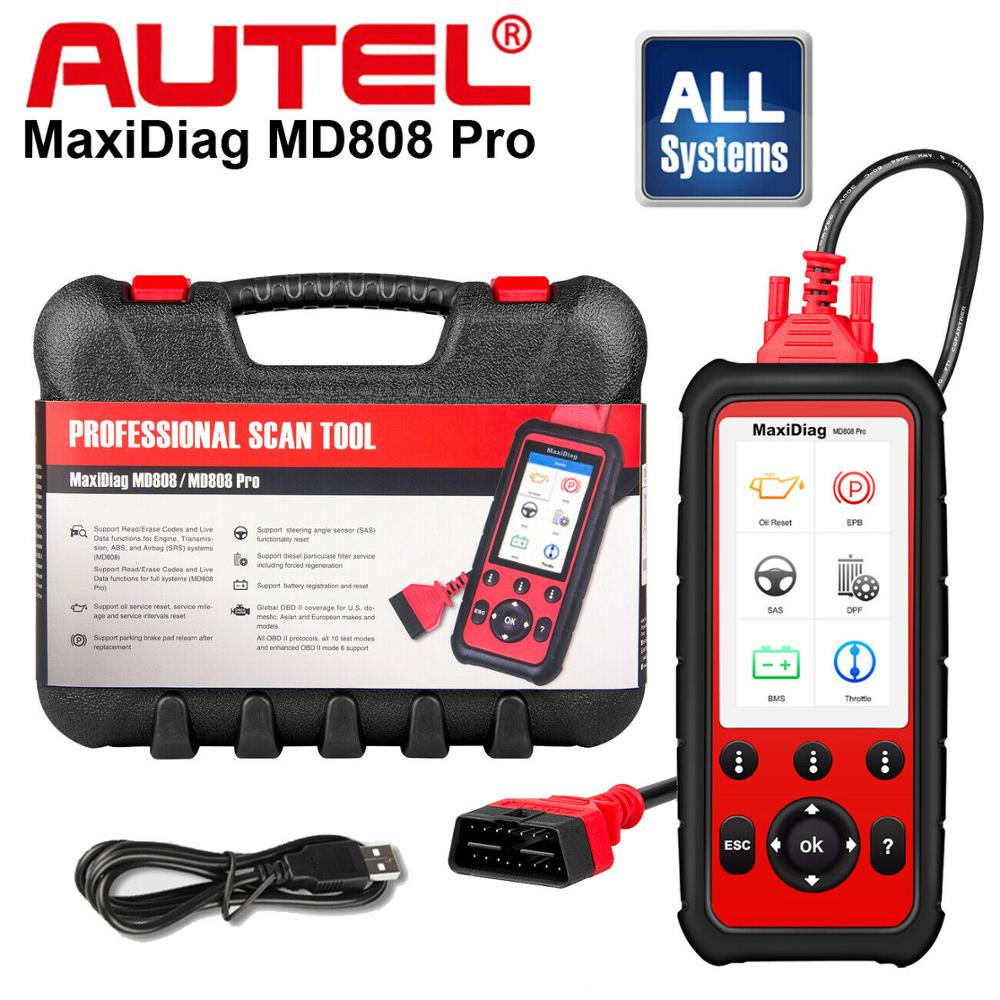 Autel MaxiDiag MD808Pro Diagnostic Tool, MD808 Pro Obd2 Scanner Engine Transmission SRS ABS EPB Oil Reset DPF SAS BMS (VS MK808)|Code Readers & Scan Tools| - AliExpress