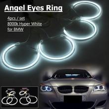 4 sztuk CCFL Angel Eyes Halo pierścienie zestaw żarówek 8000K Hyper biały dla BMW E36 3 E38 7 E39 5 E46 3 1998 1999 2000 2005