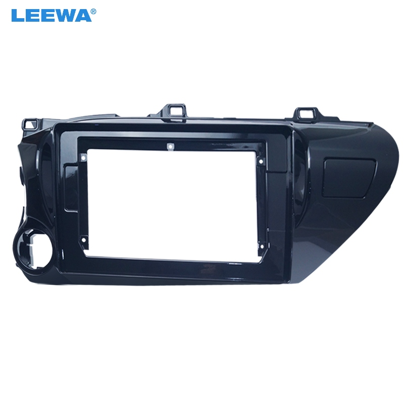LEEWA Car Audio Radio 10.1 2 Din Fascia Frame Adapter for Toyota Hilux 2018(LHD) CD/DVD Player Stereo Panel Dash Trim Kit image