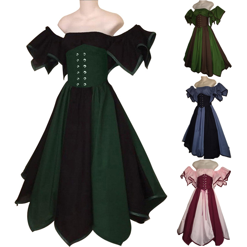 European Medieval Princess Lolita Party Evening Dresses Renaissance Masquerade Victorian Gothic Anime Elf Retro Cosplay Costumes