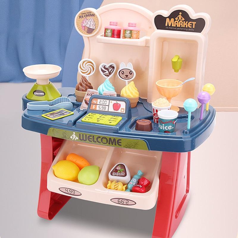 668-72 Supermarket Toy Set Cash Register  Children And Girls Pretend Shopping Carts  Checkout Trolleys