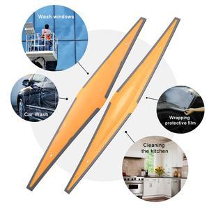 Image 2 - FOSHIO Lange Weiche Gummi Rakel Carbon Faser Film Auto Vinyl Verpackung Schaber Glas Fenster Tönung Reinigung Werkzeug Wasser Entferner