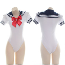 Słodkie japońskie Anime Sailor body damskie trykot stringi bielizna przejrzyste słodkie seksowna bielizna mundurek bielizna nocna Babydoll