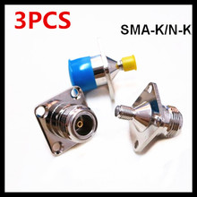 3PCS Hot-selling SMA N KKF mother-to-mother connector Frank square plate fixed N-to-SMA mother-to-head adapter