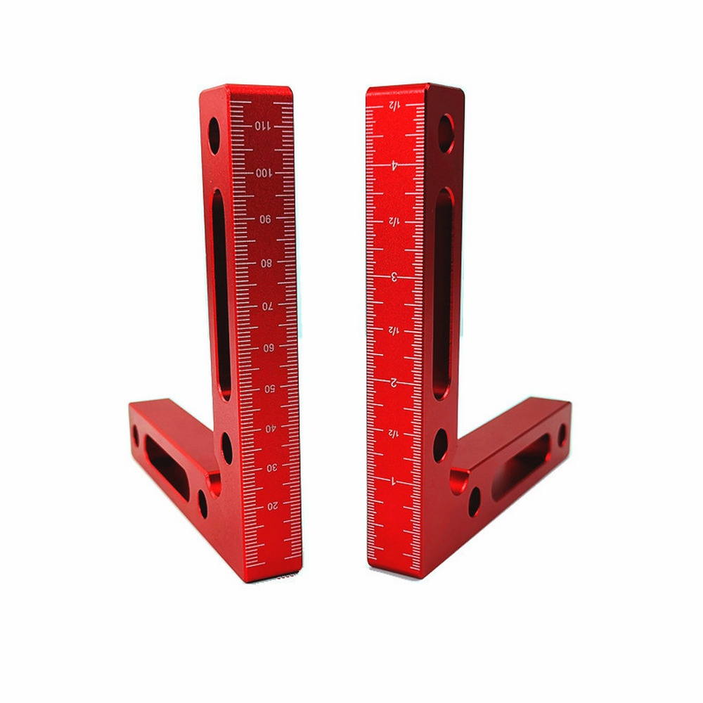 90 grado esquinas de posición L bloque abrazaderas de ángulo recto de carpintería carpintero herramienta cuadrado de aluminio de aleación de herramientas para carpintería