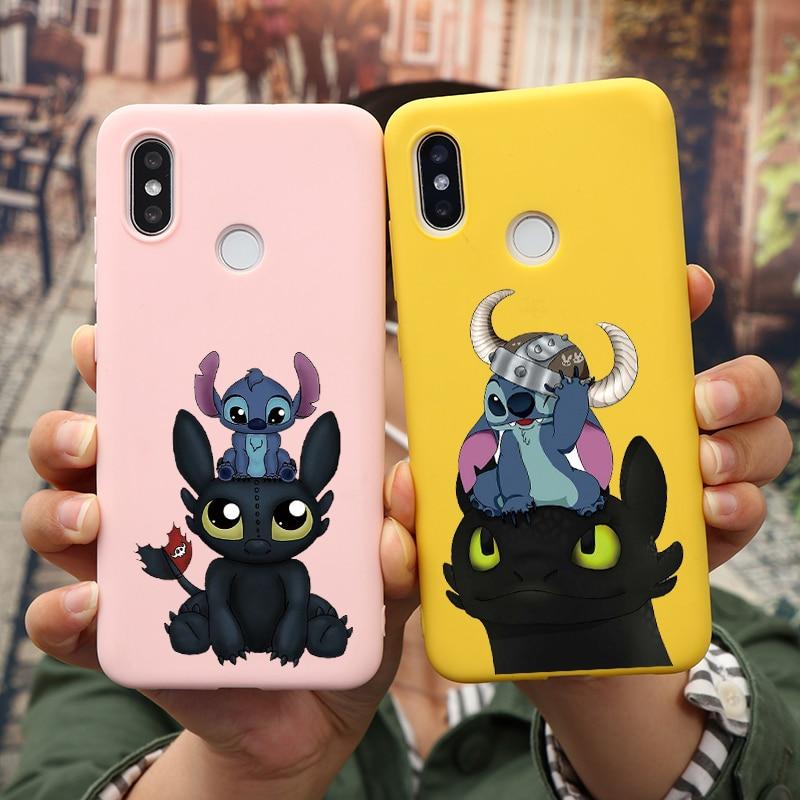 Cartoon Stitch Case For Xiaomi Redmi Mi A3 Note 4X 5A 5 6 7 10 Pro 8T 8A K20 K30 A3 9 8 Lite Pro SE CC9 Ecc9 Soft TPU Cover Case